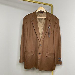 Club Room Cashmere Sport Coat Brown New 46 Long